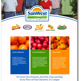 SunWest Fruit Company Website
