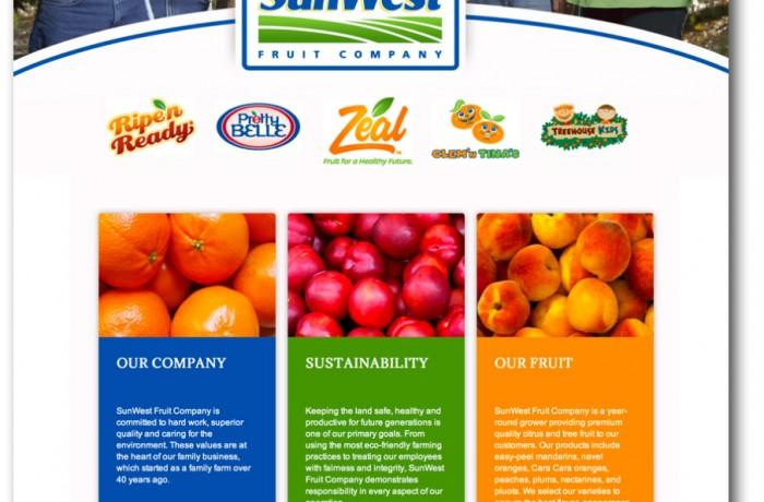 SunWest Fruit Company Website