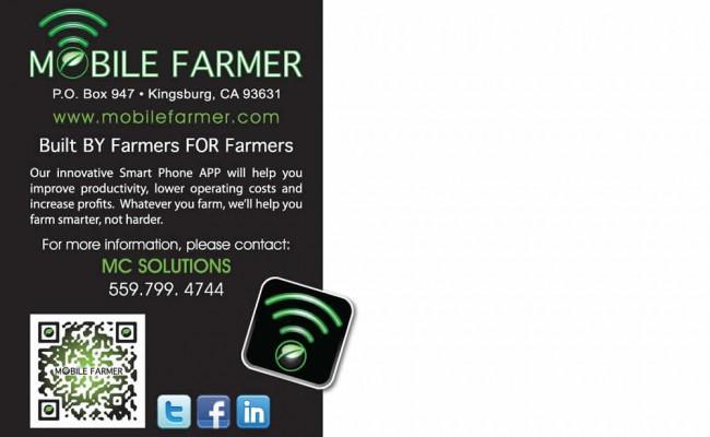 6- Mobile Farmer App Postcard -BACK