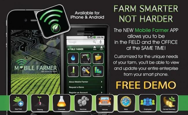 6- Mobile Farmer App Postcard -FRONT